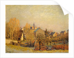Frosty Morning in Louveciennes by Alfred Sisley