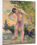 Bather drying himself at St. Tropez by Henri-Edmond Cross
