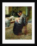 Portrait of the Artist's Mother Sewing by Charles Angrand