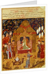 Genghis Khan in his tent by Rashid al-Din by Islamic School