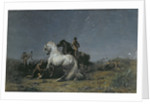 The Horse Thieves by Ferdinand Victor Eugene Delacroix