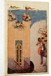 Mongols besieging a citadel by Persian School