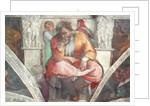 Sistine Chapel Ceiling: The Prophet Jeremiah by Michelangelo Buonarroti