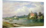 A View of Pope's House and Radnor House at Twickenham by Alexandre le Bihan