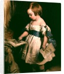 Child with a drawing by Sir Edwin Landseer