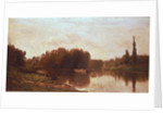 The Confluence of the River Seine and the River Oise by Charles Francois Daubigny