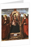 Madonna and Child Enthroned with St. Catherine of Alexandria and a Holy Female Martyr by Bartolommeo de Gentile de Urbino