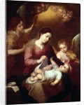 Madonna Wrapping the Christ Child in Swaddling Robes by Bartolome Esteban Murillo