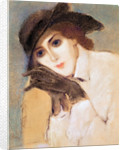 Woman in Black Gloves (Portrait of Zorka Banyai) by Jozsef Rippl-Ronai