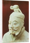 Head of a warrior, Terracotta Army by Chinese School