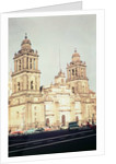 Exterior of Mexico City Cathedral from the north west by Unknown