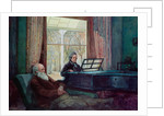Charles Darwin and his wife at the Piano by Anonymous