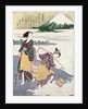 Salt Maidens on the Tago-no-ura Beach with Mt. Fuji Behind by Suzuki Harunobu