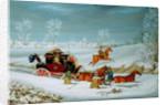 Mail Coach in the Snow by John Pollard