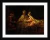 Ahasuerus (Xerxes), Haman and Esther by Rembrandt Harmensz. van Rijn