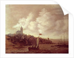 River and City Scene by Jan Meerhout