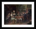 The Card Players by Jan Havicksz. Steen