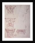 Studies for a Capital by Michelangelo Buonarroti