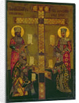 St. Constantine and St. Helena by Russian School