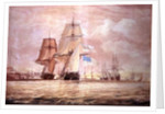 HMS 'Shannon' leading the 'Chesapeake' into Halifax Harbour by John Christian Schetsky