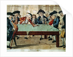 Billiards, 18th century etching by R.Sayer by English School