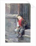 The News Boy by Ralph Hedley