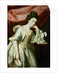 Portrait of a Lady with a Statuette of Cupid by Francis Cotes