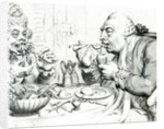 Temperance Enjoying a Frugal Meal by James Gillray