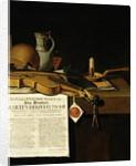 Vanitas still life homage to Admiral Marten Herpertszwoon Tromp by Antonius Leemans