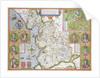 Lancashire in 1610 by John Speed