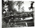 Federal battery fording a tributary of the river Rappahannock on battle day, Cedar Mountain by American Photographer