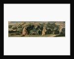 Adoration of the Magi Altarpiece; central predella panel depicting The Flight into Egypt by Gentile da Fabriano