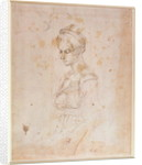 W.41 Sketch of a woman by Michelangelo Buonarroti