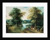 River Landscape by Jan the Elder Brueghel