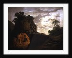 Virgil's Tomb, with the Figure of Silius Italicus by Joseph Wright of Derby
