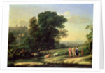 Landscape with Cephalus and Procris Reunited by Diana by Claude Lorrain