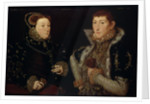 Lady Mary Nevill and her son Gregory Fiennes by Hans Eworth or Ewoutsz