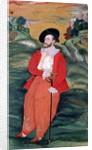 Portrait of a European sailor by Mughal School