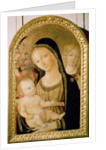 Madonna and Child with SS. Catherine and Christopher by Matteo di Giovanni di Bartolo