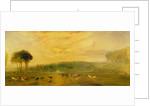 The Lake, Petworth: Sunset, Fighting Bucks by Joseph Mallord William Turner
