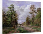 The road to Louveciennes at the edge of the wood by Camille Pissarro