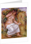 The Bather at the Fountain by Pierre Auguste Renoir