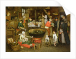 The Visit to the Farm by Pieter the Younger Brueghel