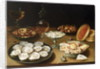 Still life with oysters, sweetmeats and roasted chestnuts by Osias the Elder Beert