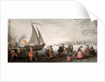 Skaters and a golf party on the ice by David Vinckboons