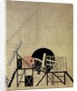 Stage set design for the play 'The Magnanimous Cuckold' by F. Crommelynck by Lyubov Sergeevna Popova