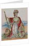 Mrs. Pope as Britannia by English School