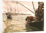 A Smelt Net by Charles Napier Hemy