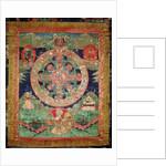 Bardo Mandala, Thangka showing the period between death and reincarnation by Tibetan School
