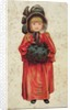 Girl with a muff by Anonymous